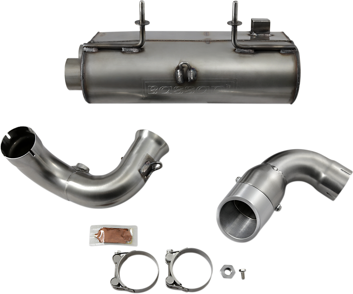 Bassani Stainless Steel UTV Slip on Muffler for 2014 Polaris RZR XP 900 EFI 4x4
