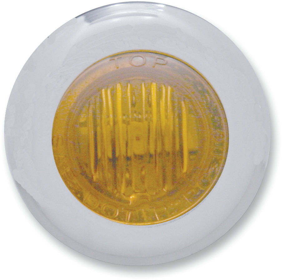 Pro One Stainless LED Amber Flush Mount Mini Marker Light for Harley Davidson