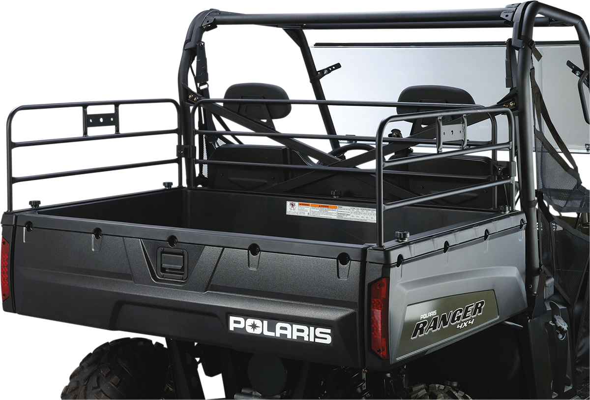 Moose Black Full Side UTV Side by Side Bed Rails for 06-19 Polaris Ranger 1000