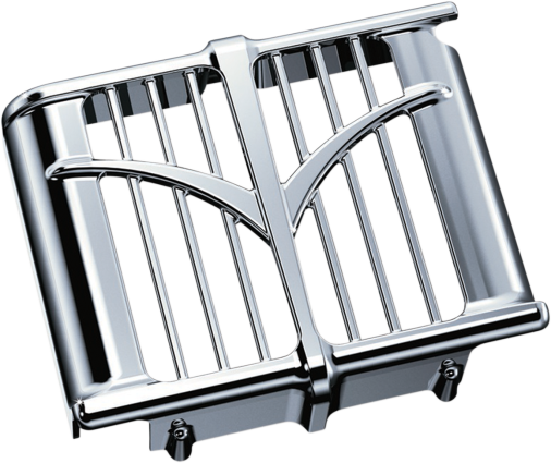 Kuryakyn 5640 Chrome Oil Cooler Cover for 14-18 Indian Chieftain Dark Horse