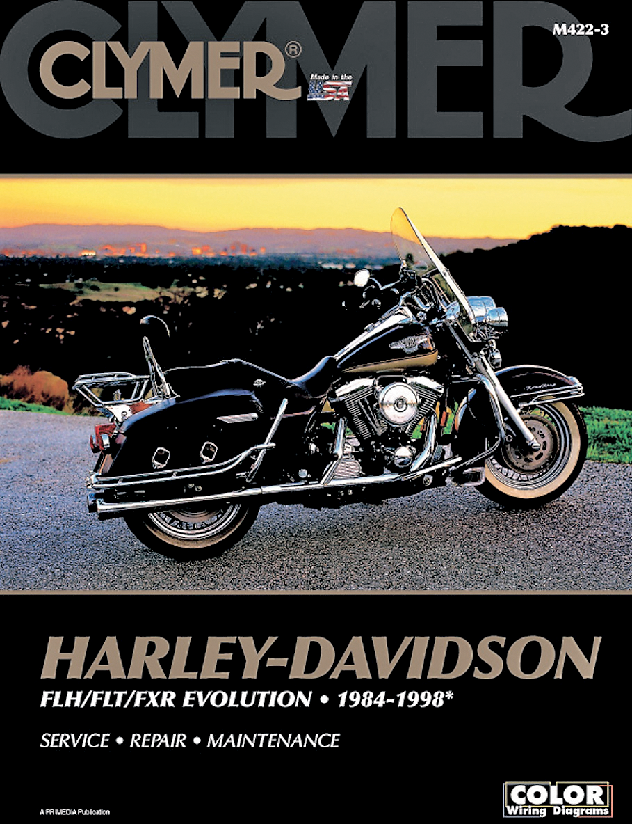 Clymer Service Repair Manual for 84-98 Harley Davidson Flht Flt Fxr on