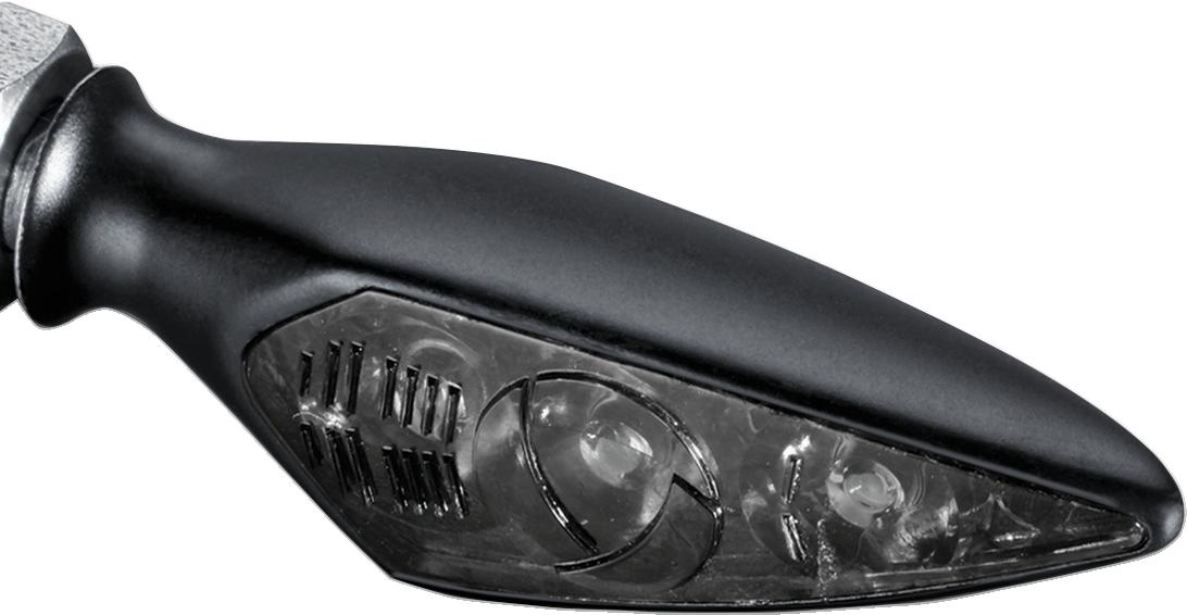 Kuryakyn 2852 Glass DF Dark Rhombus S Amber Front Left Right Rear Turn Signal