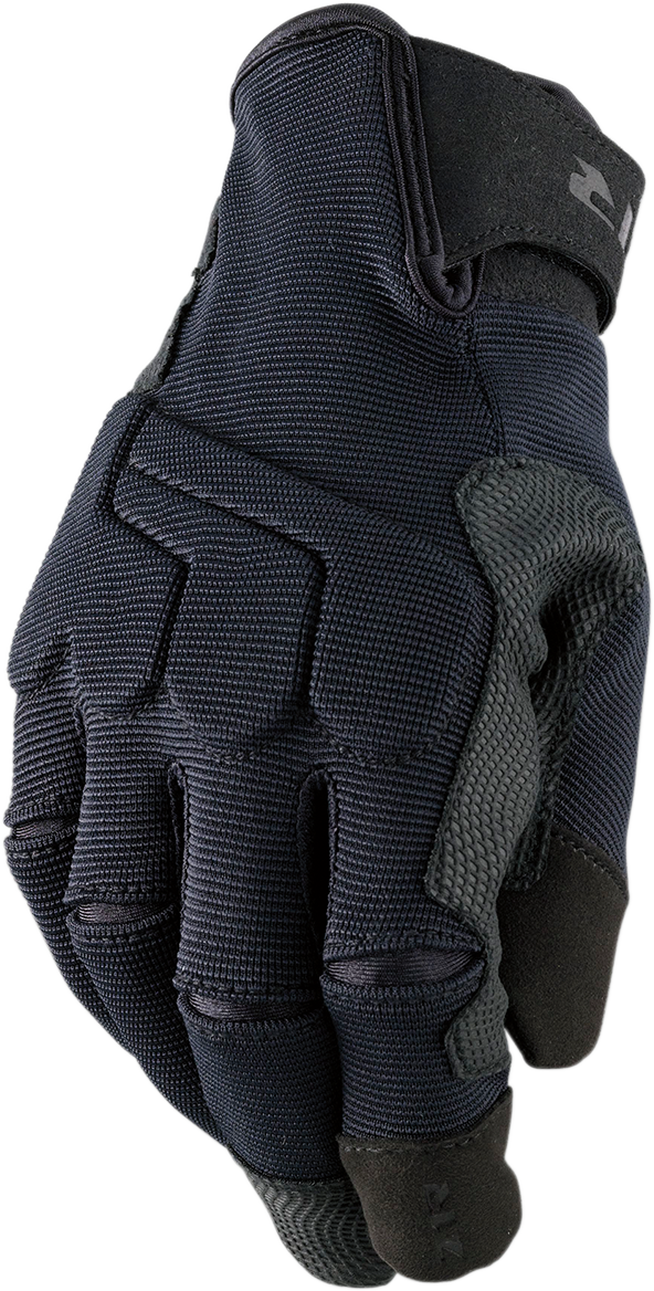 Z1R Mens Black Mill D30 Armored Textile Motorcycle Riding Street Racing Gloves