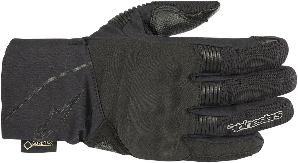 Alpinestars Black Leather Textile Gore tex Winter Surfer Mens Motorcycle Gloves