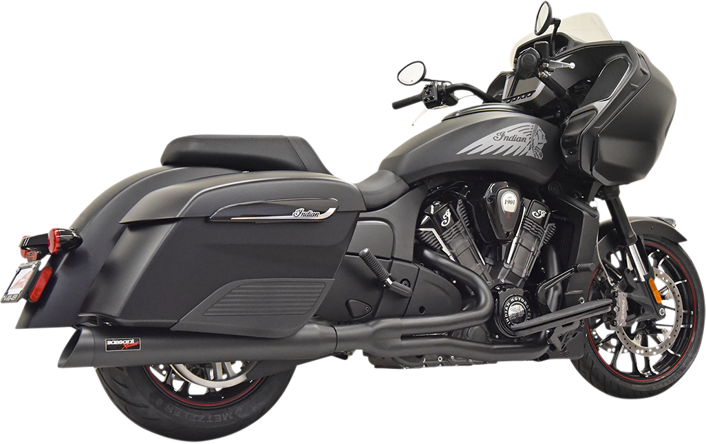 Bassani Road Rage 2-1 Black Motorcycle Exhaust 2020 Indian Challenger Limited