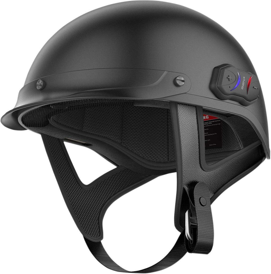 Sena Cavalry Matt Black Unisex Bluetooth Motorcycle Riding Smart Half Helmet