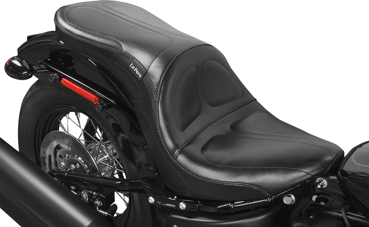 Le Pera Black Maverick Vinyl Seat for 18-19 Harley Softail Street Bob FXBB