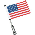 TOUR PACK RACK FOLDING FLAG MOUNTS WITH FLAG