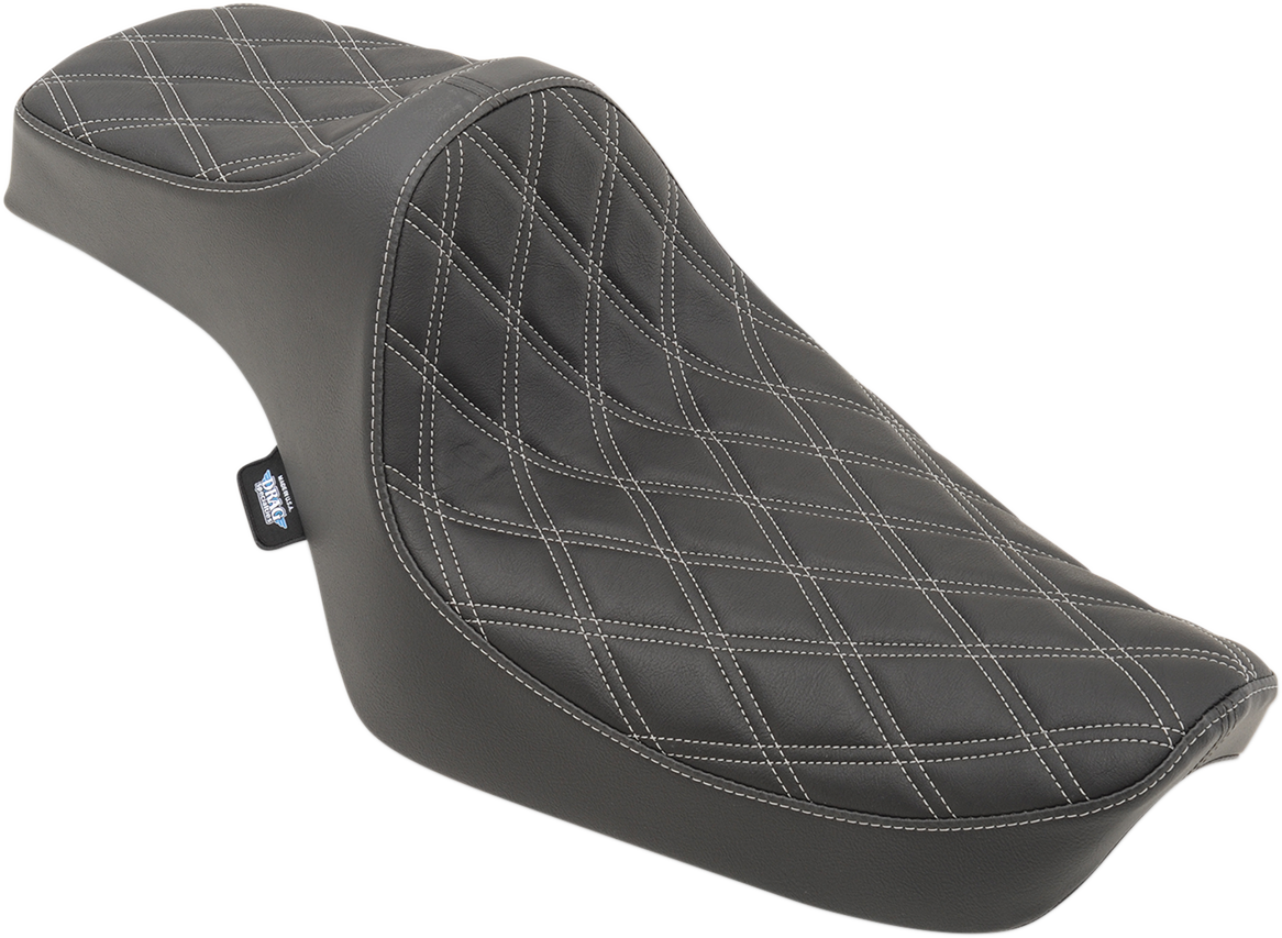 Drag Specialties Black Vinyl Predator Diamond Seat for 82-03 Harley Sportster XL