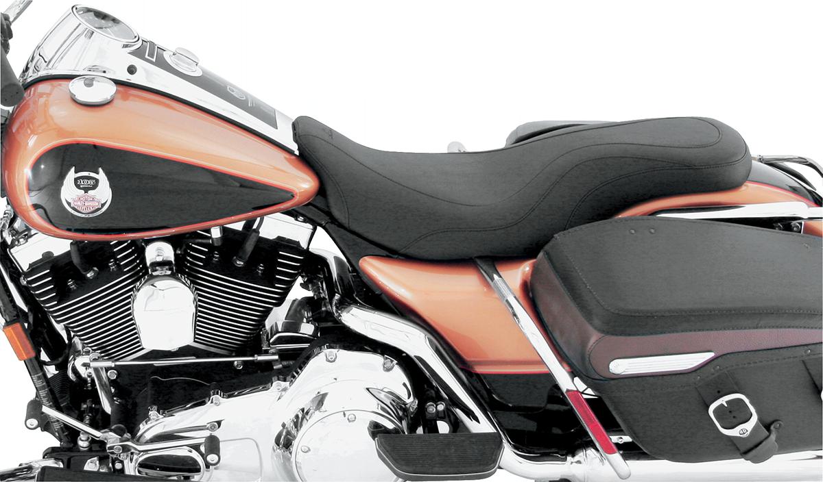 Mustang Daytripper Leather 2-Up Seat 08-19 Harley Touring FLHX FLHR FLTR FLHTK