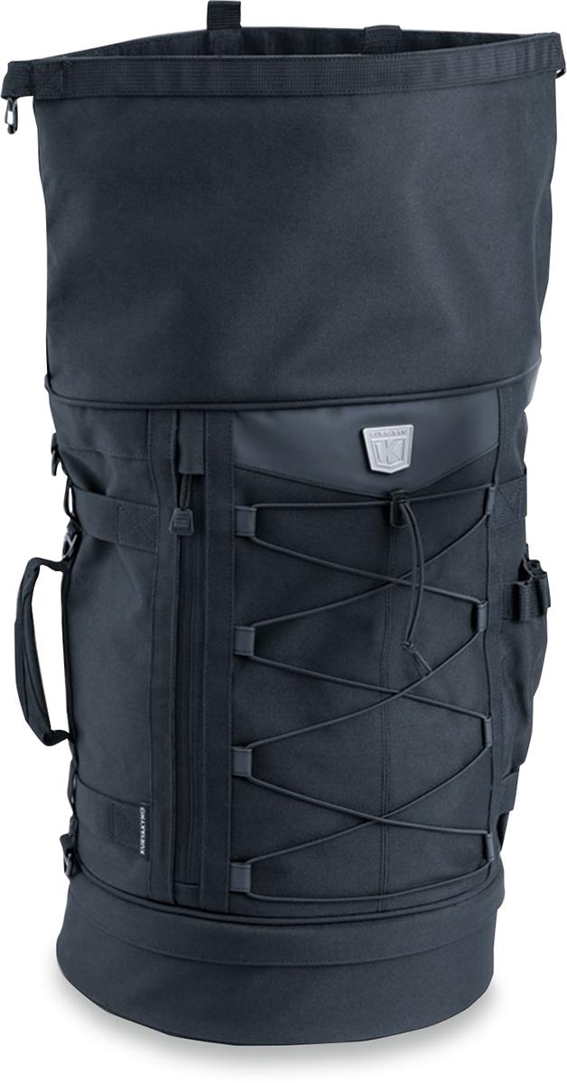Kuryakyn 5282 Black Textile Universal Momentum Freeloader Sissy bar Duffel Bag