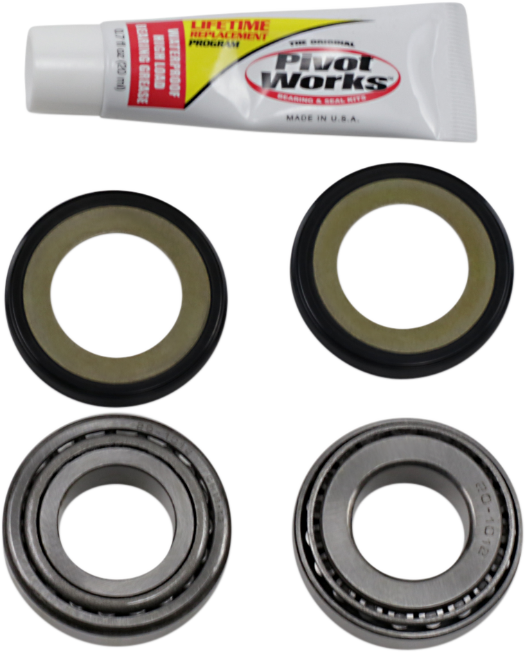 Pivot Works Steering Stem Bearing Kit 65-17 Harley Dyna Touring Softail XL FLT