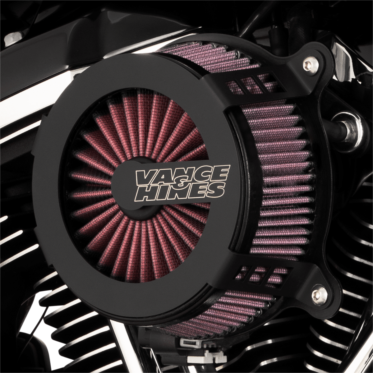 Vance & Hines VO2 Cage Fighter Air Filter Cleaner Kit 2017-2021 Harley Touring