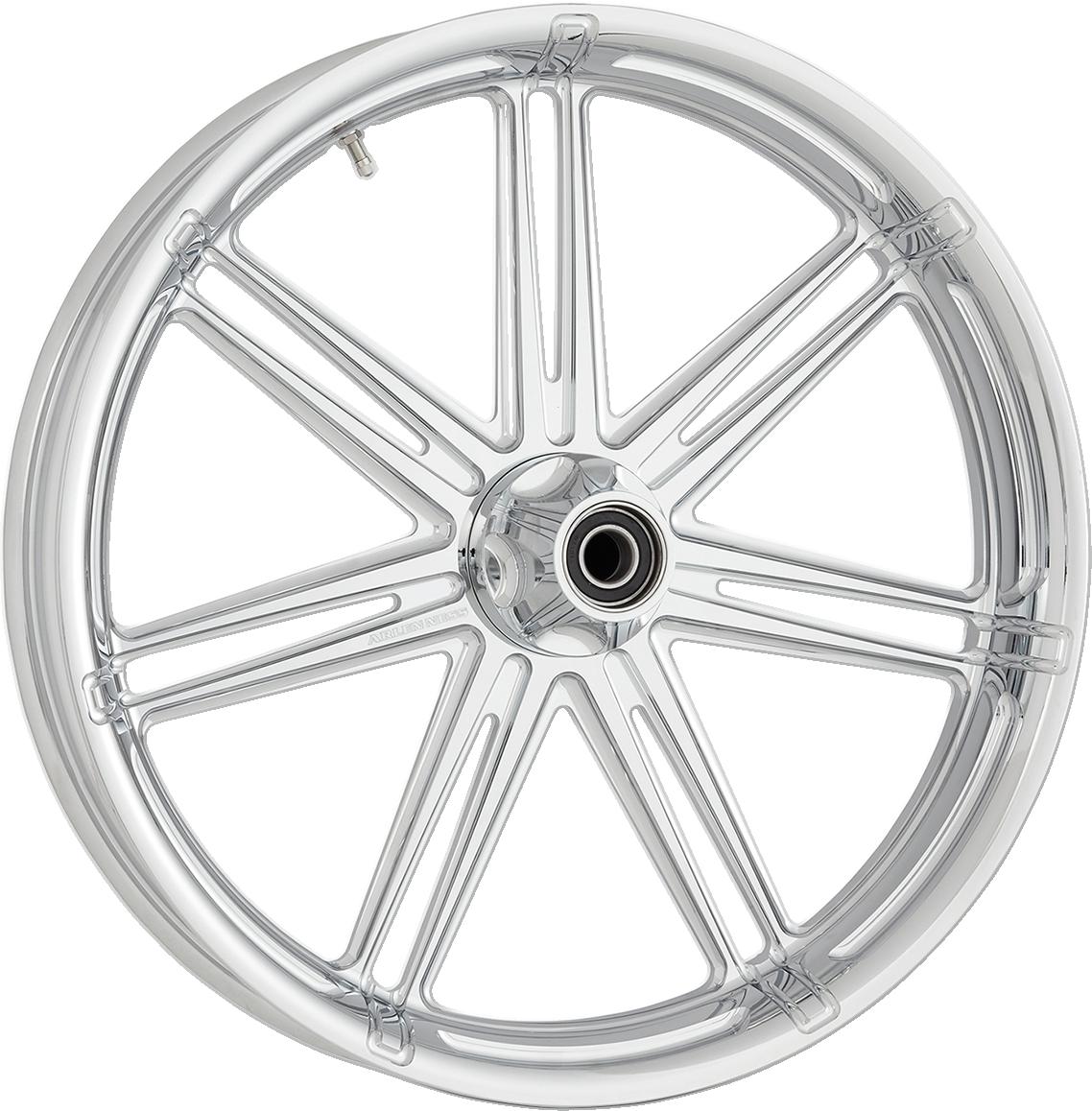 "Arlen Ness 7 Valve Chrome 21"" x 3.5"" ABS Front Wheel for 08-19 Harley Touring"