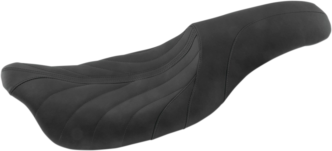 Mustang Black Revere Journey Gravity Motorcycle Seat 08-20 Harley Touring FLHX