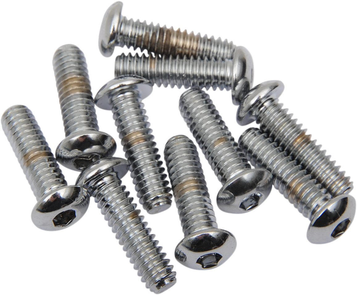 "Drag Specialties Chrome SAE 1/4""-20 x 5/8"" Single Button Head Rear Seat Bolt"