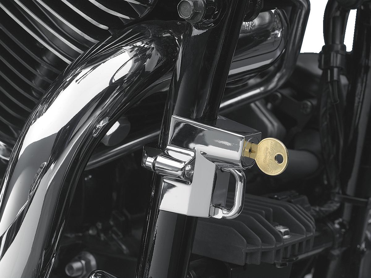 "Kuryakyn 4232 Chrome 1 1/4""- 1 1/2"" Universal Motorcycle Frame Tube Helmet Lock"