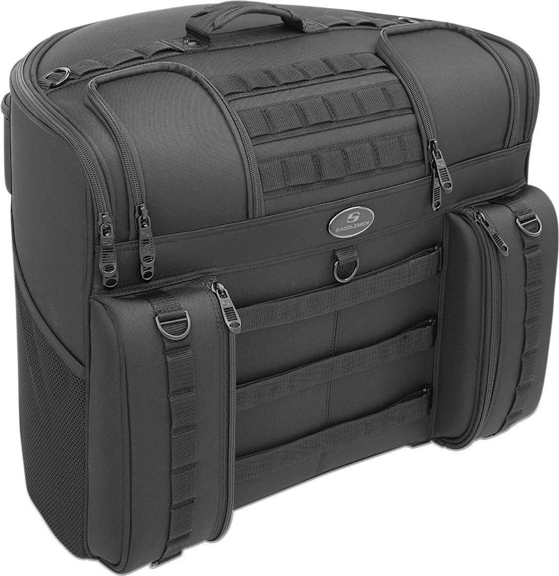 Saddlemen BlackBR4100 Tactical Textile Rear Back Seat Bag for Harley Davidson