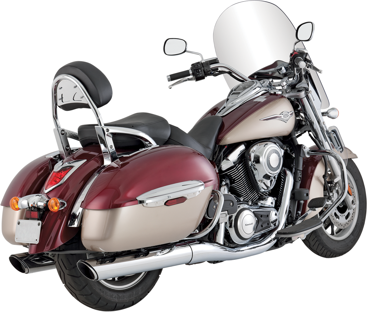 Vance & Hines Chrome 2-2 Twin Slash Mufflers for 09-14 Kawasaki Vulcan VN 1700