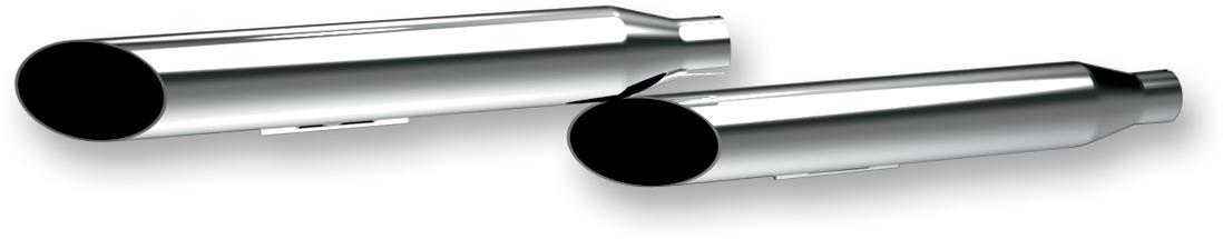 "Khrome Werks HP-Plus Chrome 3"" Slip on Mufflers for 06-17 Harley Super Glide"