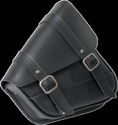 Willie & Max Black Leather Left Side Swing Arm Saddlebag 87-18 Harley Sportster