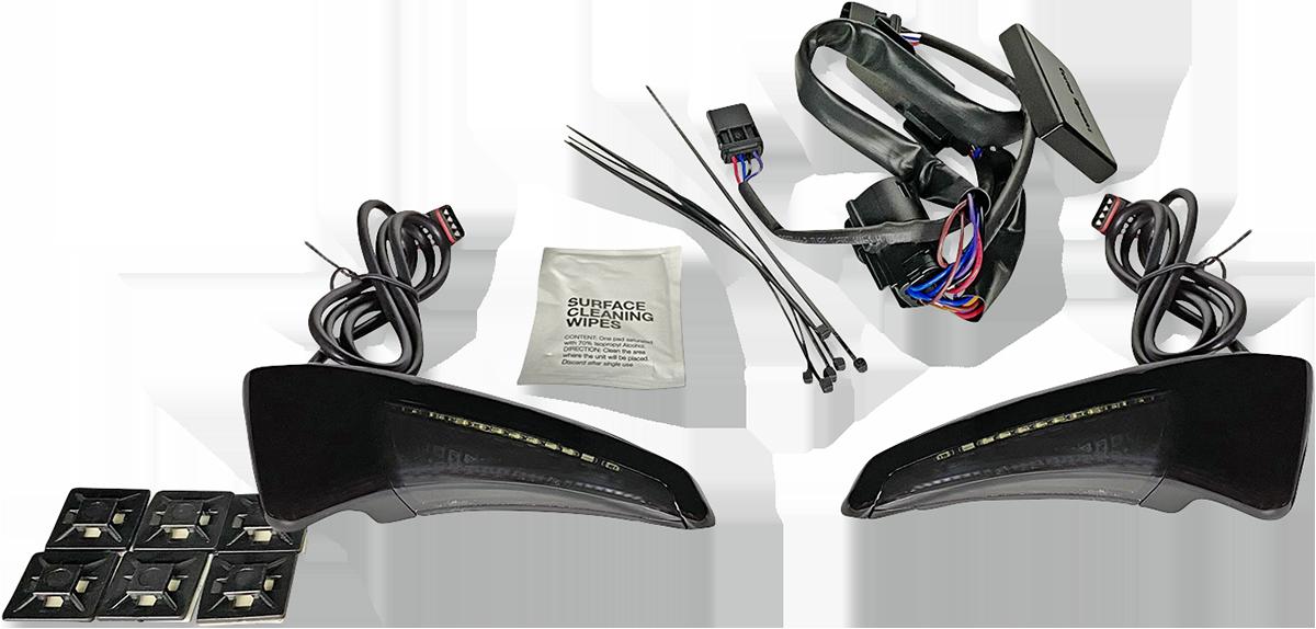 Custom Dynamics Backrest Smoke Lens LED Lights 14-20 Harley Touring FLHTK FLTRU