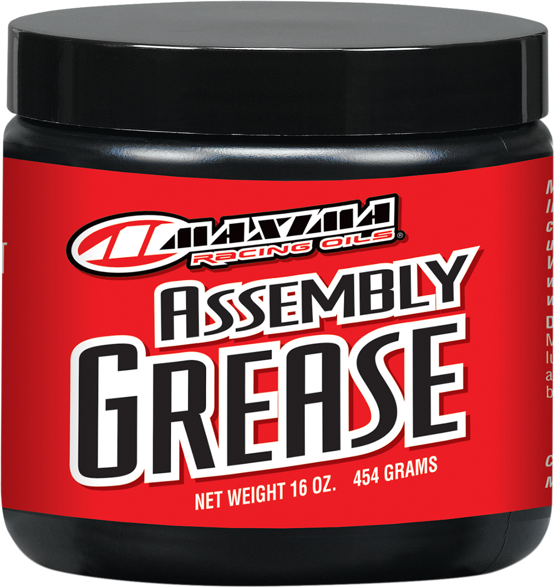 Maxima Racing 16oz Universal Motorcycle Off Road Assembly Grease lubricant Jar