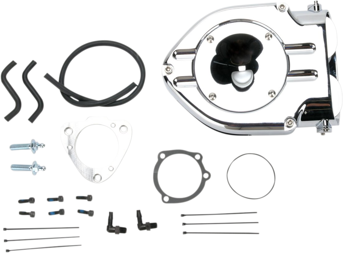Kuryakyn 9763 Chrome Hypercharger Air Filter Kit 01-05 Harley Touring Softail