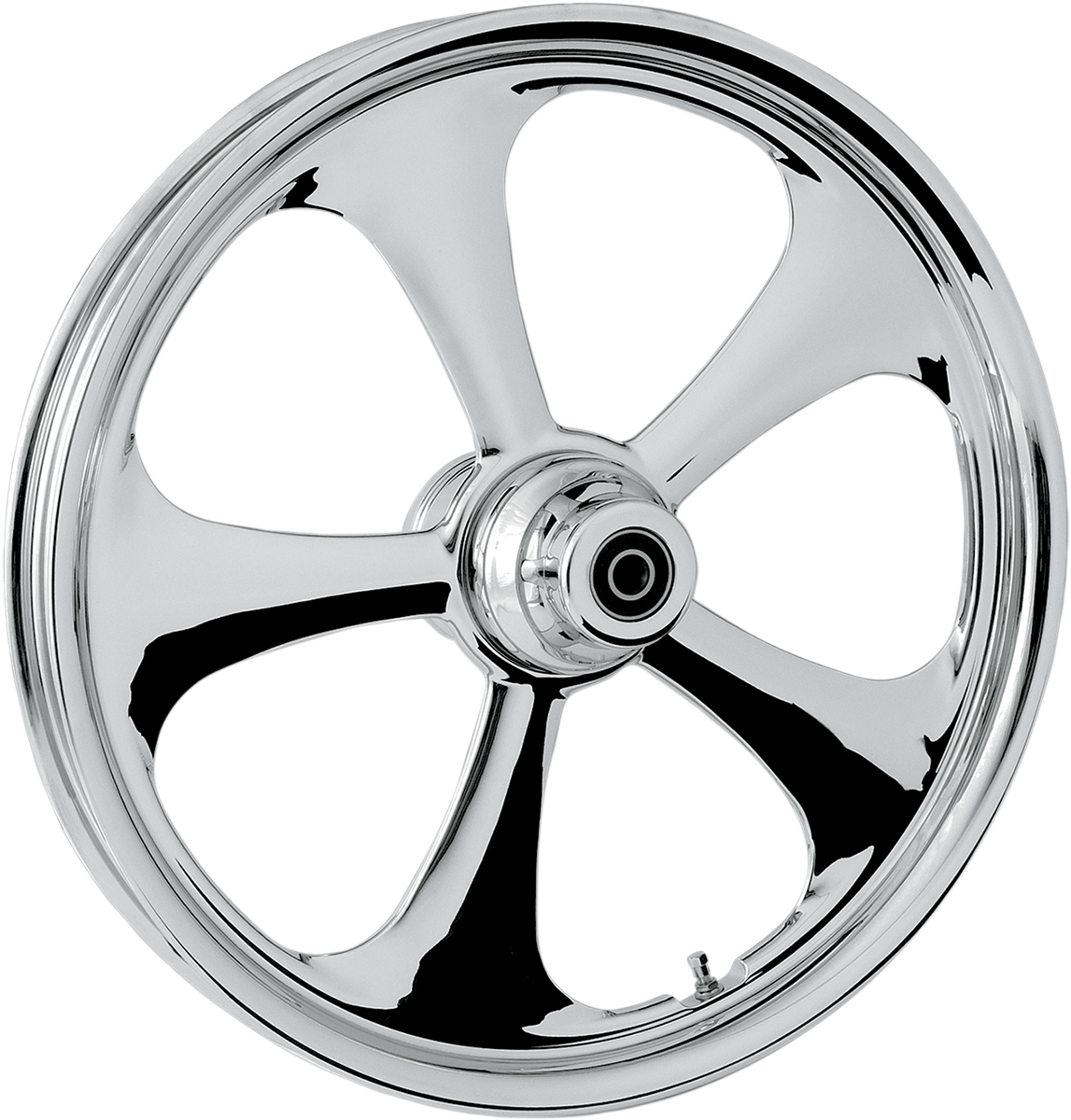"""RC Components Nitro Chrome Dual Disc 23"""" ABS Front Wheel 08-17 Harley Touring"""