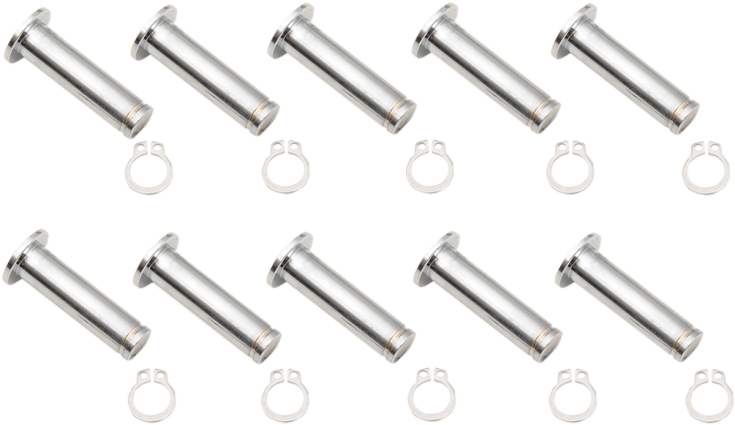 Drag Specialties Chrome Single Brake Pivot Pin Kit 08-19 Harley Touring FLHX