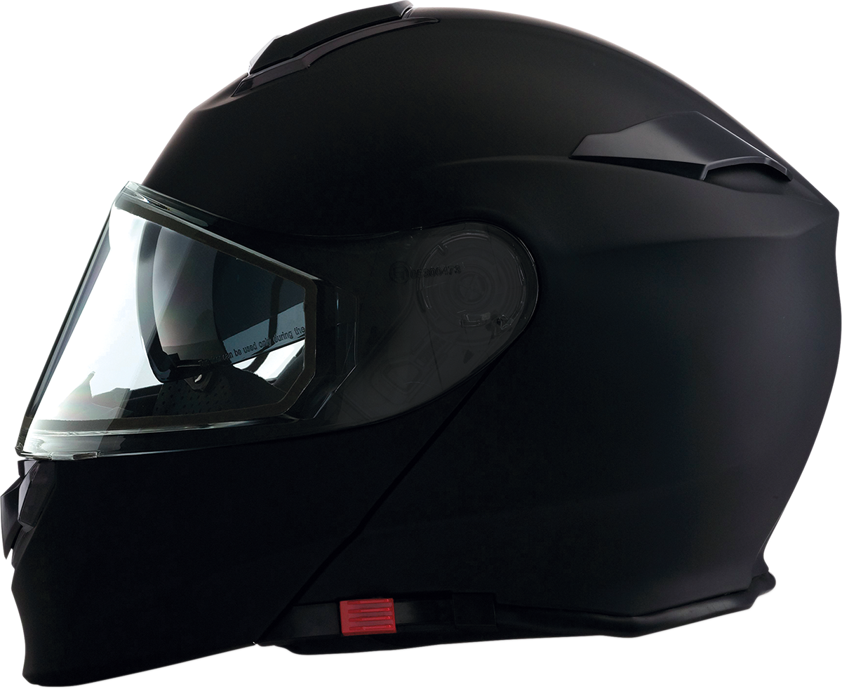 Z1R Flat Unisex Black Solaris Modular Full Face Snowmobile Riding Snow Helmet