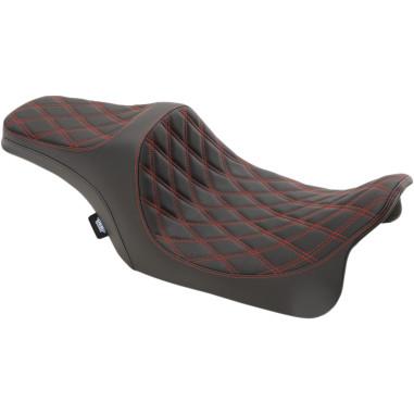 SEAT DBL DIAM RED VINL FL