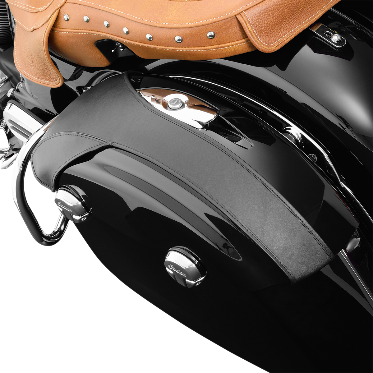Hopnel Black Saddlebag Lid Bras for 14-17 Indian Chieftain Springfield Chief
