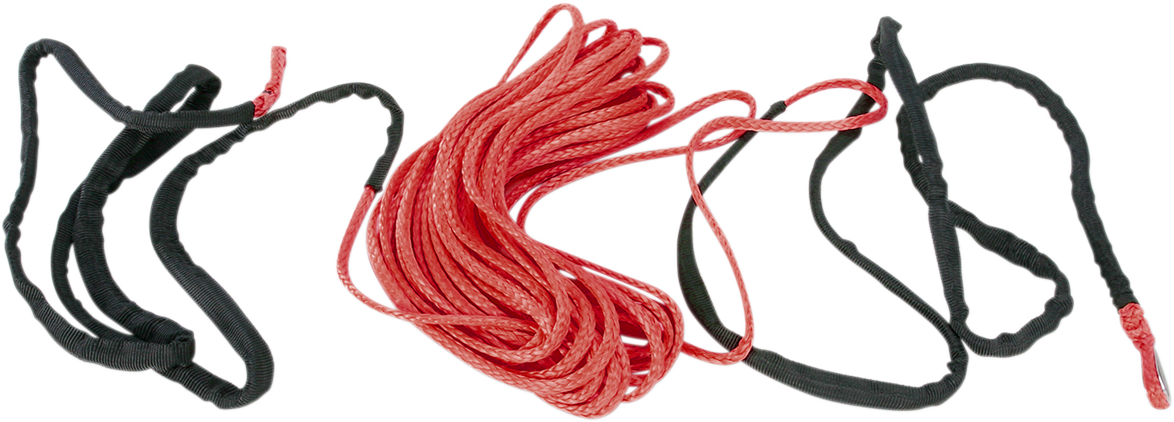 """Moose Utility Red 3/16"""" x 50' Synthetic Universal ATV Offroad Winch Rope Cable"""