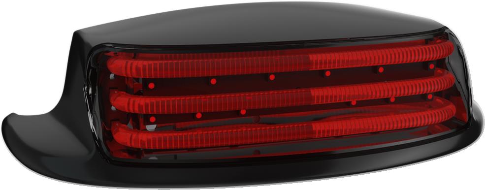 Custom Dynamics Black Red Lens Rear Fender Tip Light for 09-19 Harley Touring