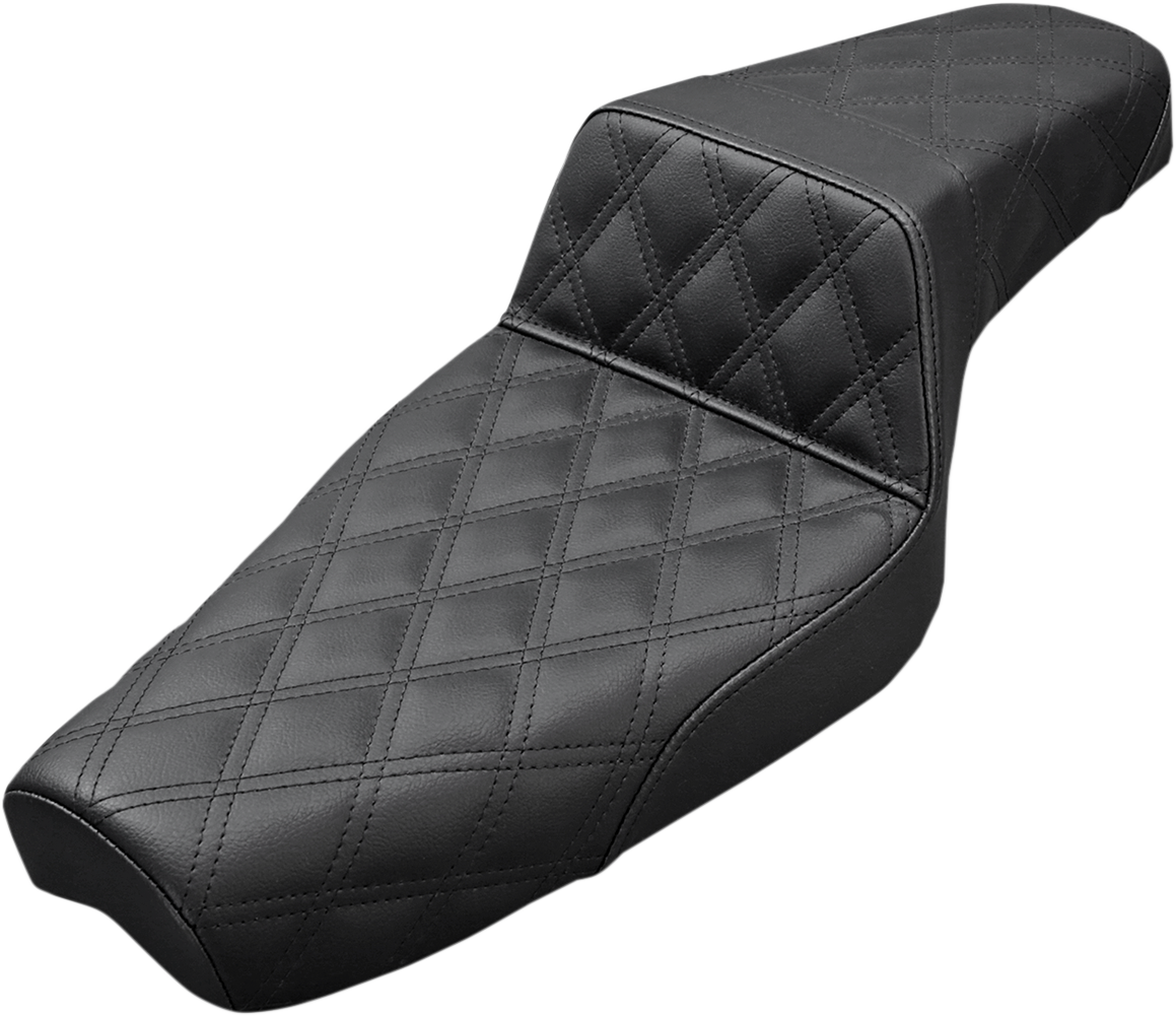 Saddlemen Black Step up 4.5 Gallon Motorcycle Seat for 04-18 Harley Sportster XL