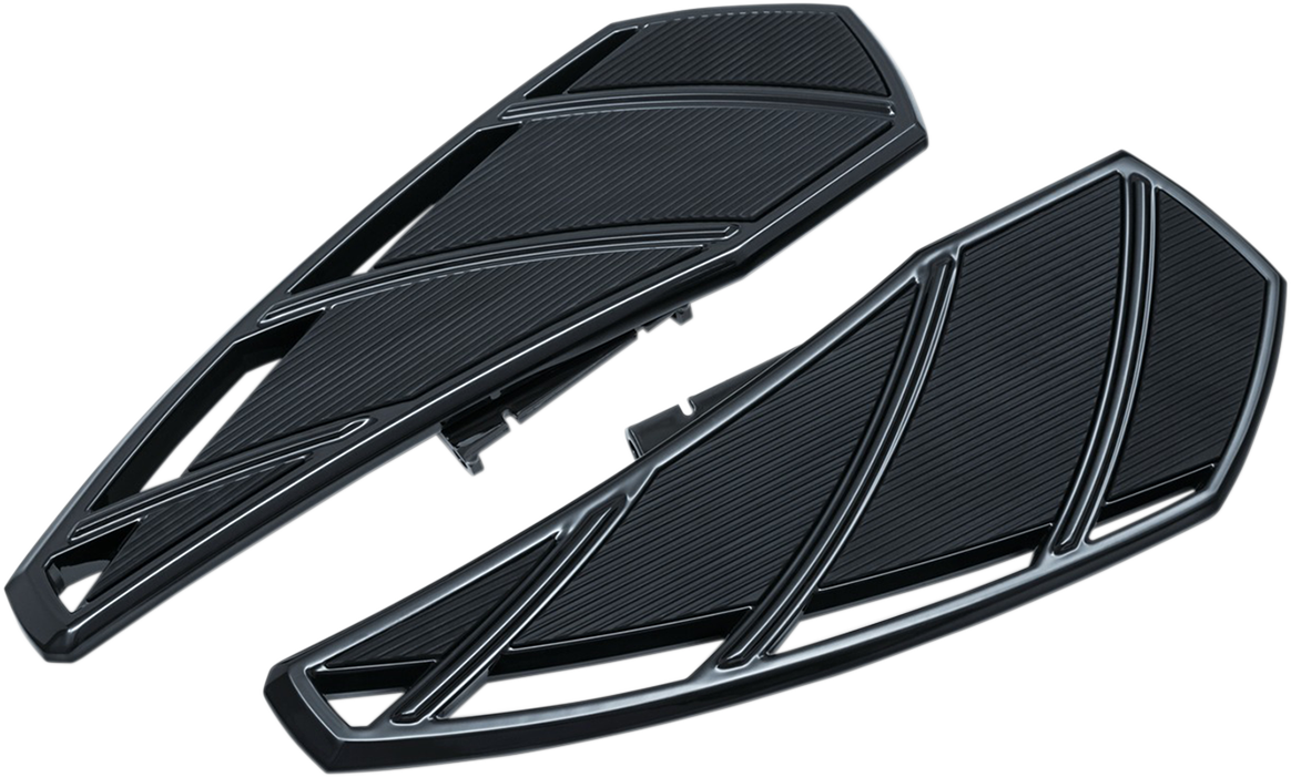 Kuryakyn 5795 Black Phantom Motorcycle Driver Floorboards 18-20 Harley Softail