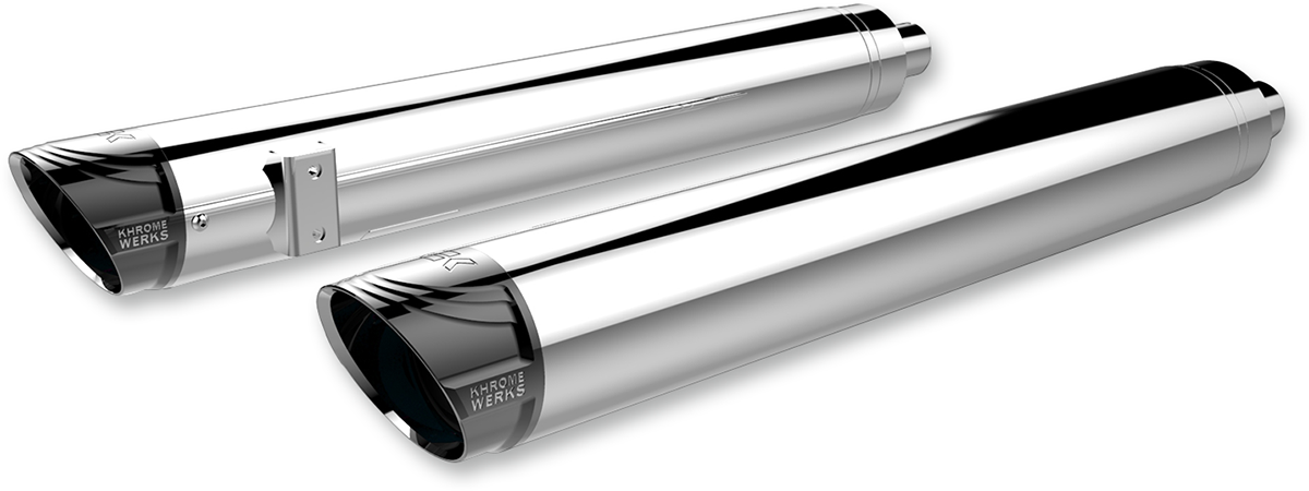 "Khrome Werks HP-Plus Chrome 4"" Slip on Mufflers for 14-19 Indian Chief Classic"