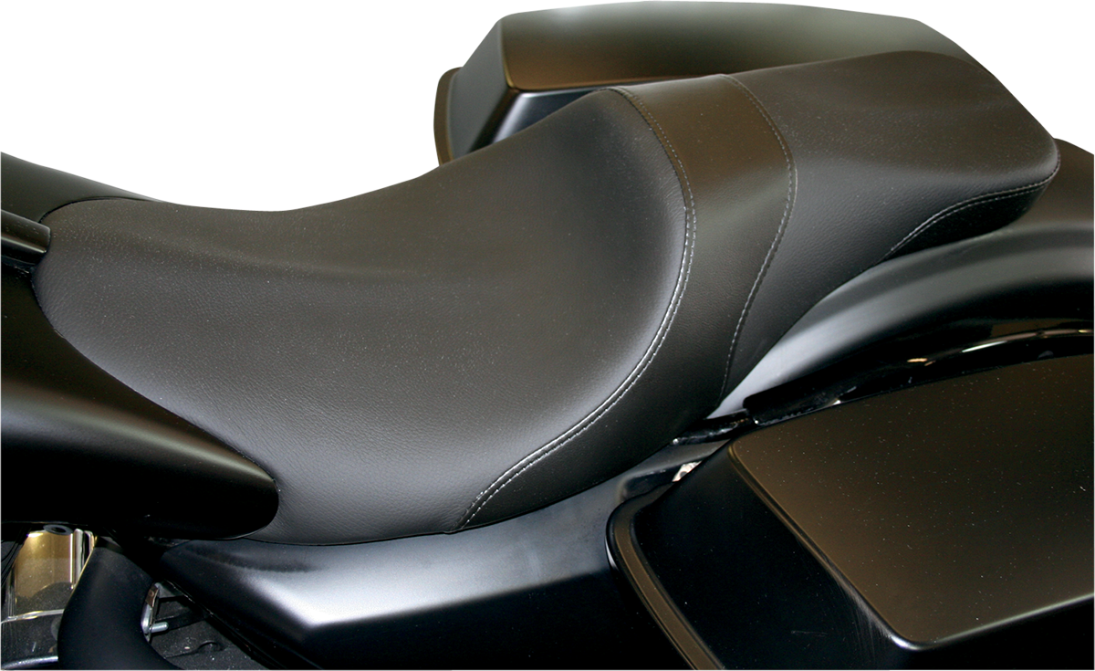 Danny Gray Black Leather Motorcycle Solo Seat 08-19 Harley Touring Bagger FLHX