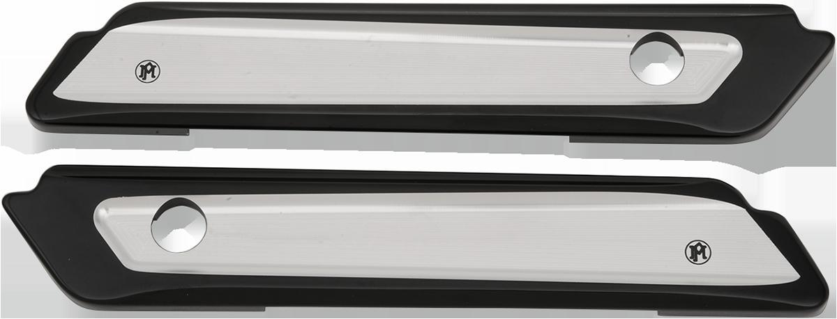 PM Black Rear Saddlebag Hing Covers for 14-19 Harley Touring FLHX FLHR FLTRXS