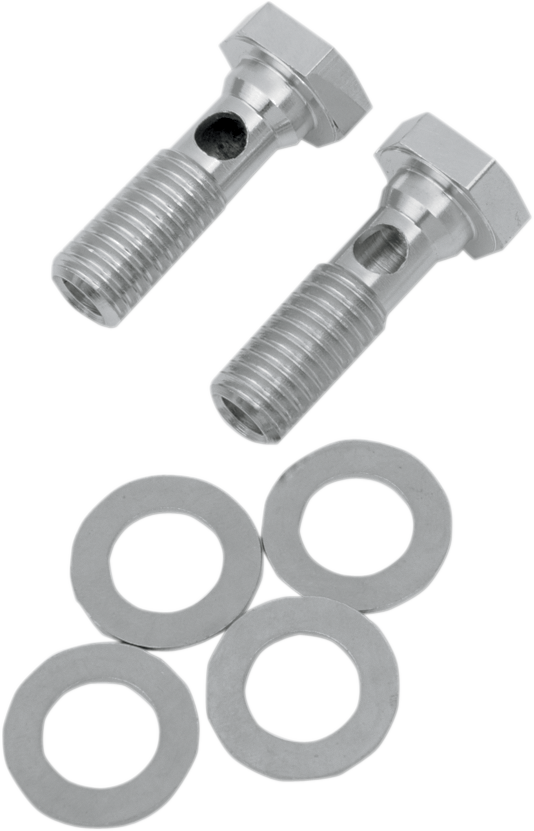 Drag Specialties Chrome EVO Breather Bolts for 93-99 Harley Touring Softail XL