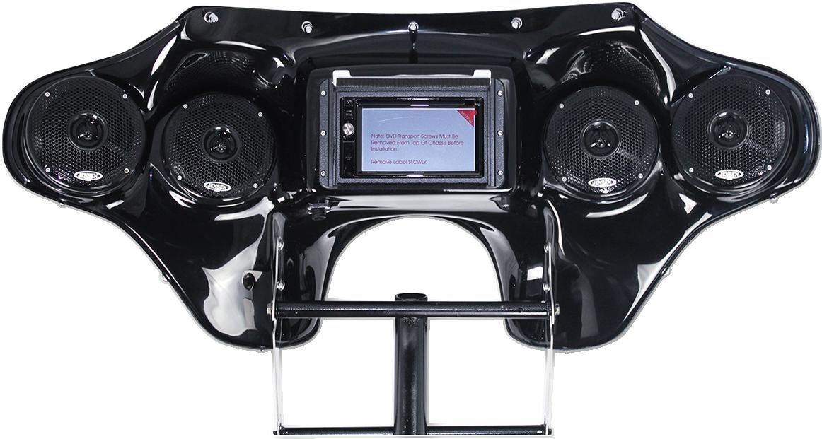Hoppe Quadzilla Black Fiberglass Touch Front Fairing Kit for 96-17 Harley FLHR