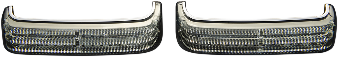 Custom Dynamics Chrome LED Smoke Lens Saddlebag Lights for 14-19 Harley Touring