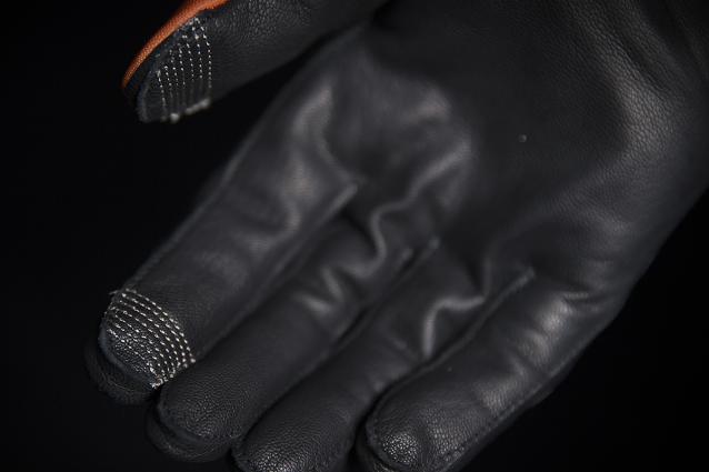 Icon Raiden Mens UX Orange Textile Motorcycle Riding Street Racing Gloves Medium