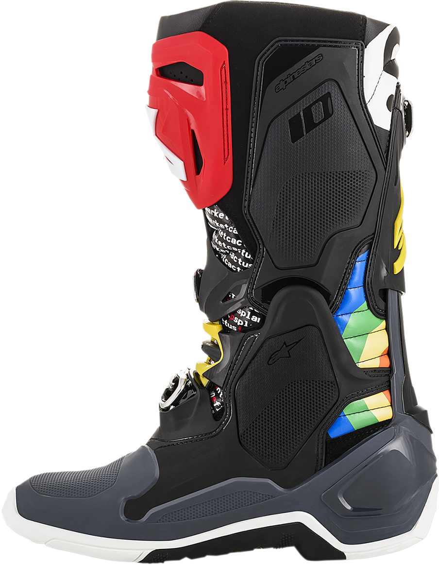 Alpinestars Mens Limited Edition Cactus Tech 10 Offroad Racing Dirt Riding Boots