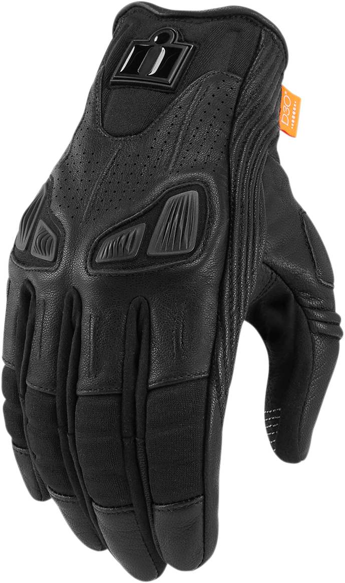 Icon Womens Leather Touch Screen Automag 2 Motorcycle Street Riding Gloves
