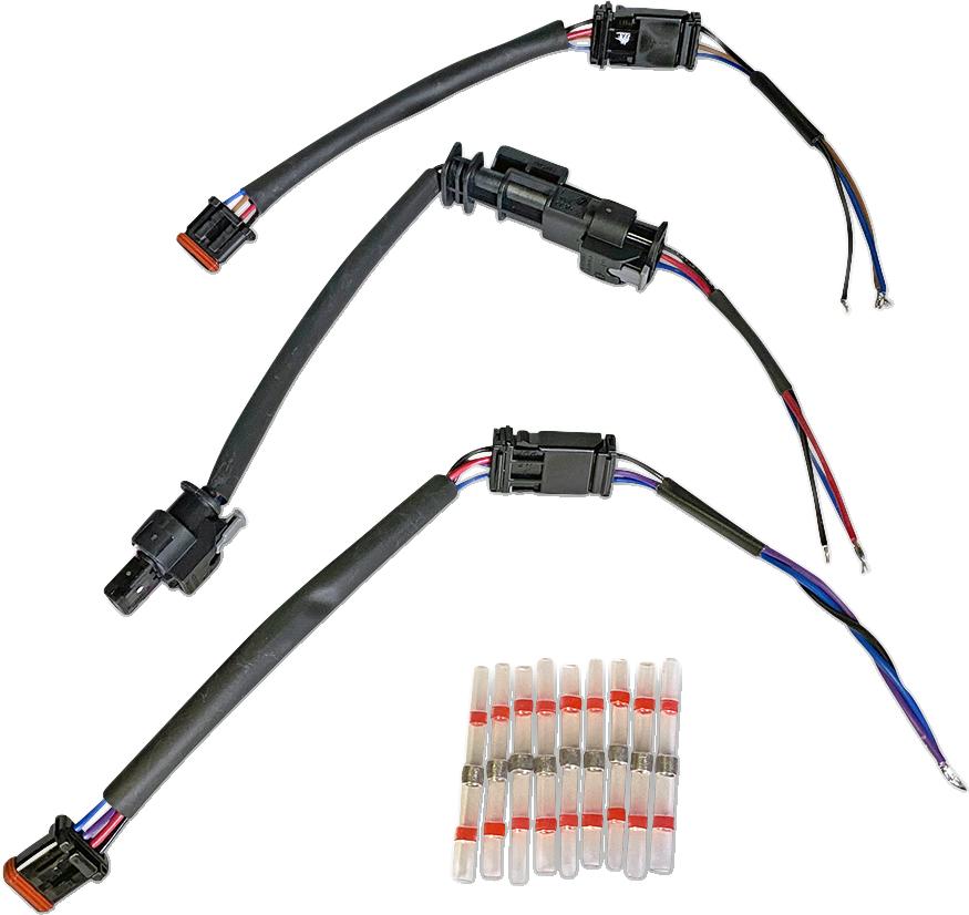 Custom Dynamics LED Rear Wiring Kit 18-20 Harley Softail FLDE FLSL FXBB FXBR