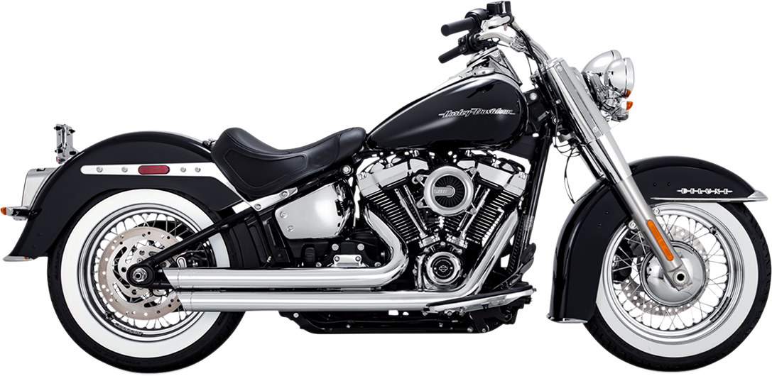 Vance & Hines Chrome Big Shots Staggered Exhaust for 18-19 Harley Softail FLDE