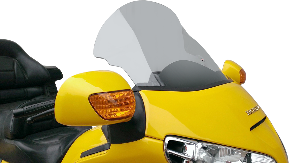 "Klock Werks Clear Flare 14""-18"" Adjustable Fairing Windshield For 01-16 Honda GL"
