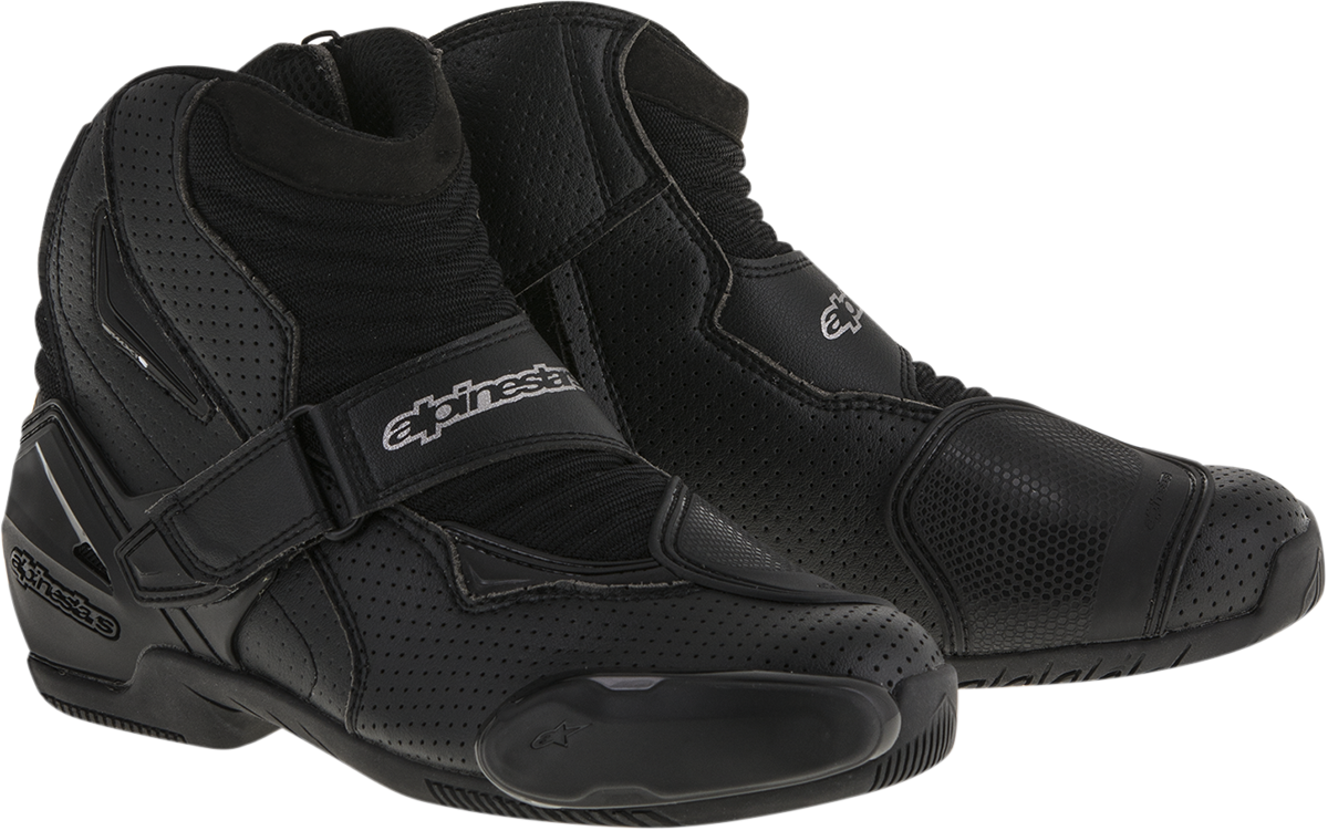 Alpinestars SMX-1R Black Vented Adult 6.5 Motorcycle Riding Street Racing Boots
